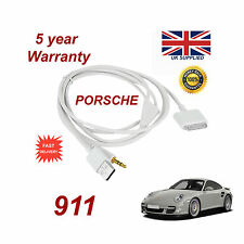 PORSCHE 911 CDR-31 Sistema Audio iPhone 3GS 4 4S IPOD USB & AUX Cavo Bianco