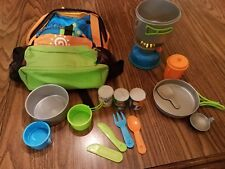 Toys R Us Play Camping and Hiking Equipment Gear with Backpack