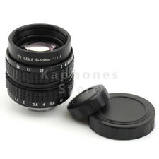 "2/3""Television TV Lens/CCTV Lens for C Mount Camera 50mm F1.4 Olympus&Panasonic"