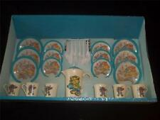 70's New Vintage Wolverine Girls TIN & PLASTIC Toy Bears Tea Set Dishes 6 Place