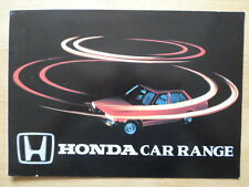 HONDA Range orig c1982 UK Market brochure - Civic Accord Prelude Quintet