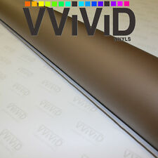 Satin Matte Coffee Brown 5ft x 70ft Cast Vinyl Roll Auto Vehicle Film Exterior