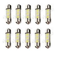 10x 34mm 3 LED 5050 SMD C5W White Car Interior Festoon Dome Light Lamp Bulb 12V