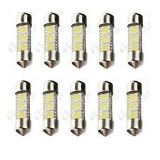 10x 34mm 3 LED 5050 SMD C5W White Car Interior Festoon Dome Light Lamp Bulb 12V