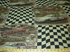 ~6 1/8 YDS~JUNIOR JOHNSON CAR RACING~TAPESTRY UPHOLSTERY FABRIC~FABRIC FOR LESS