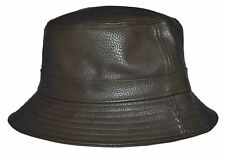 5e6191a857b KB Men s Leather Feel Polyester Bucket Hat Olive Green