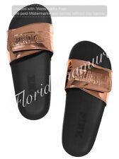 New Victorias Secret PINK Rose Gold Slide Slipper Flip Flop Sandal Big M 7-8 NWT
