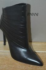 NIB GIORGIO ARMANI Womens BLAKE Black Leather Pointed Toe Boots Size 10 EUR 40