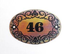 Soviet vintage tin apt door number plate 46 sign retro address plaque USSR