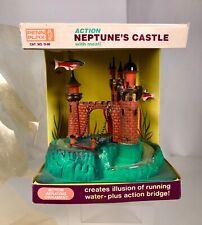 New listing Vintage Penn Plax Neptune Castle Aquarium Decoration Ornament Mib Pet Store Toy