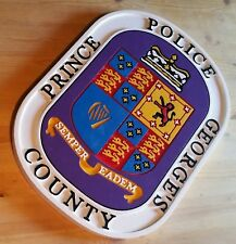 Police Department Prince George's County Sign routed patch sign Custom