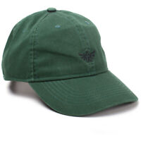 Zelda Baseball Cap Green Hyrule Crest Logo Official Black Curved Bill Snapback