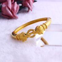 Designer Heavy Brass Gold Bracelet Cuff Kada Kadaa  Men Women Fashion Classy