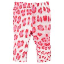 NWT Authentic Roberto Cavalli Infant Baby Girl Pink Cheetah Print Leggings (6M)