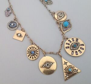 Evil Eye Necklace Protection Necklace Rhinestone Charm Pendants Talisman Jewelry