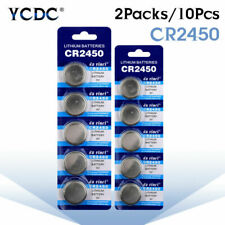 10Pcs CR2450 DL2450 BR2450 LM2450 5029LC 3V Button Coin Cell Battery Bulk Cells