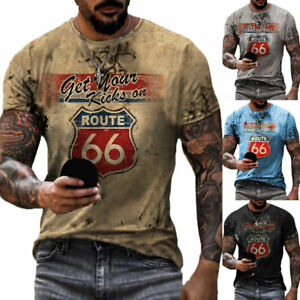 Plus Size Men 3D Printed Short Sleeve T-Shirt Sports Casual Muscle Slim Fit Tops