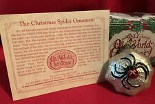 Christmas Spider,Legend,Box,Insect, Old World Christmas,Inge-Glas,Germa ny,Retired