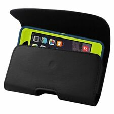Extra Large Leather Belt Clip Loop Holster Pouch For iPhone FITS HARD CASE ON