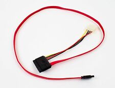 Lot of 10 1000mm (3.3ft) 7P SATA to 22P SATA + LP4 Power Cable