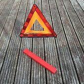 Grande Plegable Coche Emergencia Reflectante Triángulo Rojo desglose de advertencia de seguridad