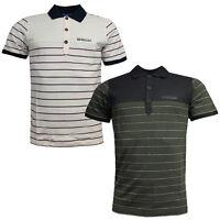 Adidas Originals Porsche Speedster Mens Striped Cotton Polo Top T-Shirt RW75