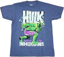 Hulk Mens T-Shirt - Incredible Hulk Battles The Inhumans Cover Tee New
