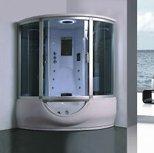 Vasca Doccia idromassaggio multifunzione con sauna a bagno turco  cromoterapia