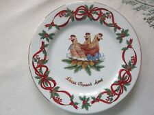 Noble Excellence 12 Days of Christmas Salad Plate -3 French Hens