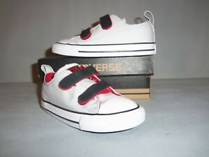Toddler Converse Chuck Taylor All Star Ox 2V Sneakers Sizes NIB Hook/Loop