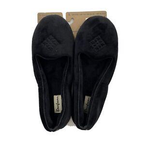 Dearfoams Women's Velour Slip-On HouseSlippers Black 51701DF Size L fits US 9-10