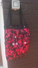Borsa Adidas Retro Vintage stoffa rose nero rosso black red rose bag elegante