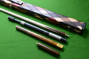 Handmade 3/4 Piece 57 Inch Snooker Cue Complete Set with Ash Shaft