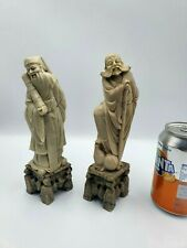 More details for vintage oriental chinese soapstone carved figurines