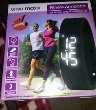 vitalmaxx LED Fitness Armband Sport Uhr Activity Tracker Schlafüberwachung