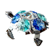 Crystocraft Turtle Crystal Ornament With Swarovski Elements Gift Boxed Tortoise