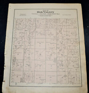 1884 OTTER TAIL COUNTY MAP MINNESOTA Compton and Oak Valley Township