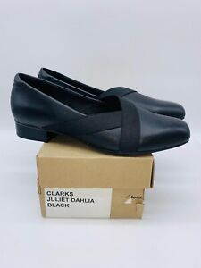 Clarks Collection Women's Juliet Dahlia Slip-On Loafers Black Leather