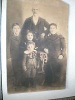 """Antique Vintage 1800's/1900's Family Portrait 13"""" x 20"""" Unframed"""