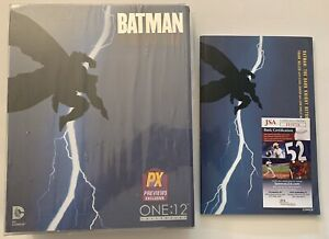Mezco One:12 Batman Dark Knight Returns PX Figure+Frank Miller SIGNED Comic Book