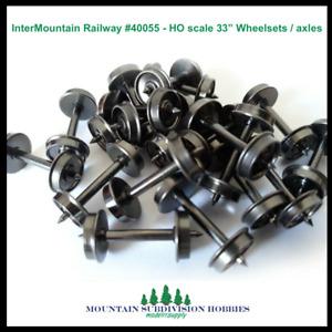 """InterMountain 40055 33"""" 40 pack Metal wheelset HO W40055 MODELRRSUPPLY  $5 Offer"""