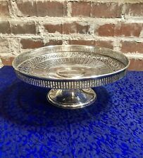 """Tiffany & Co Sterling Silver Cake Stand, Compote Centerpiece, Pierced Rim 8 1/4"""""""