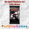50 Card Vampire lot Magic MTG w/ Rares + FREE bonus Rares & Booster Packs!