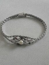 Altes 835er Silber Armband mit Perle (j9)