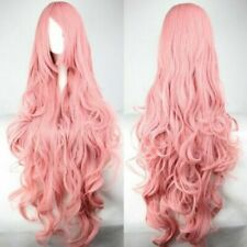 Super Long 100CM Pink Long Curly Vocaloid Megurine Luka Charming Cosplay Wig