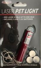 Laser pet Light, red light visible up to one mile, batteries included