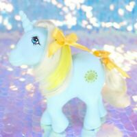 Vintage My Little Pony SUNBEAM Mint Green Unicorn Gold Sun Italy G1 MLP BH533