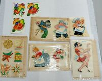 LOT OF 11 VINTAGE CRAFTS UNUSED TRANSFER DECALS