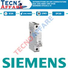 Interruttore ON OFF 63A 230/400V 1Polo 1NO Commutatore Siemens 5TE2511-0