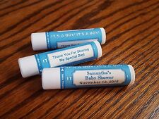 20 Personalized Lip Balm Baby Shower It's A Boy Tube Peppermint Party Favors